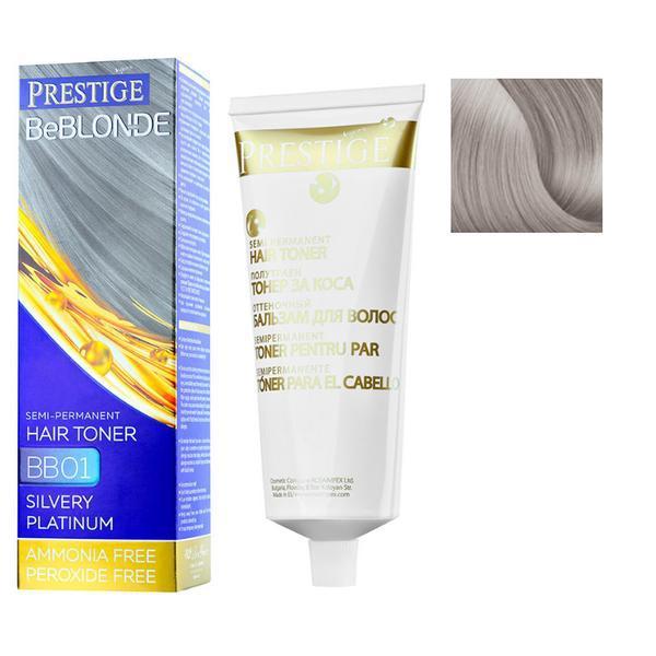 Vopsea de Par Semi-Permanenta Rosa Impex Prestige VIP's BeBlonde Hair Toner, nuanta BB10 Amethyst, 100ml imagine produs