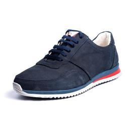 Pantofi sport 100% Pas, Piele Naturala, Urban Sneakers, culoare Albastru, marime 39