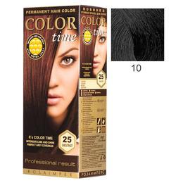 Vopsea Permanenta pentru Par Rosa Impex Color Time, nuanta 10 Black de la esteto.ro