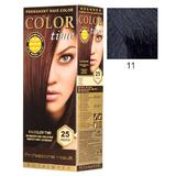 Vopsea Permanenta pentru Par Rosa Impex Color Time, nuanta 11 Blue Black