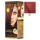 Vopsea Permanenta pentru Par Rosa Impex Color Time, nuanta 67 Intensive Red