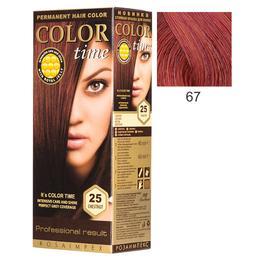 Vopsea Permanenta pentru Par Rosa Impex Color Time, nuanta 67 Intensive Red de la esteto.ro