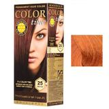 Vopsea Permanenta pentru Par Rosa Impex Color Time, nuanta 69 Copper Passion