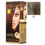 Vopsea Permanenta pentru Par Rosa Impex Color Time, nuanta 70 Dark Ash Blonde