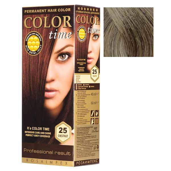 Vopsea Permanenta pentru Par Rosa Impex Color Time, nuanta 70 Dark Ash Blonde poza