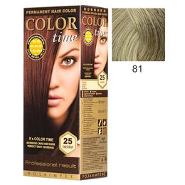 Vopsea Permanenta pentru Par Rosa Impex Color Time, nuanta 81 Ash Blonde de la esteto.ro