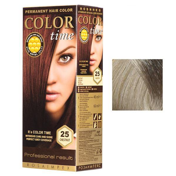 Vopsea Permanenta pentru Par Rosa Impex Color Time, nuanta 85 Cool Blonde esteto.ro
