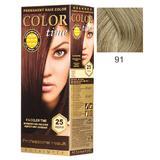Vopsea Permanenta pentru Par Rosa Impex Color Time, nuanta 91 Platinum Blonde
