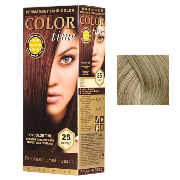 Vopsea Permanenta pentru Par Rosa Impex Color Time, nuanta 91 Platinum Blonde poza