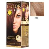 Vopsea Permanenta pentru Par Rosa Impex Color Time, nuanta 95 Light Pink Blonde