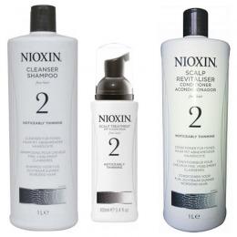 Nioxin - Pachet Maxi System 2 pentru par fin, normal cu tendinta dramatica de subtiere, cadere si rarefiere
