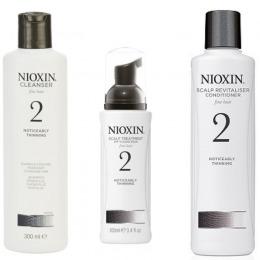 Nioxin - Pachet Medium System 2 pentru par fin, normal cu tendinta dramatica de subtiere, cadere si rarefiere