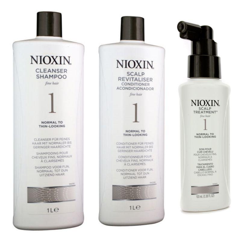 Nioxin - Pachet Maxi System 1 pentru par fin, normal cu tendinta de rarefiere poza