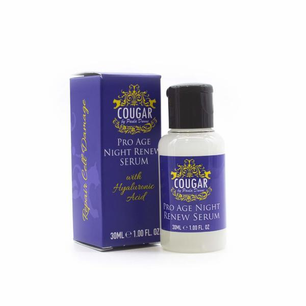 Ser Facial regenerator, Anti-Age, Cougar ProAge Night Time Renew cu Acid Hialuronic 30 ml