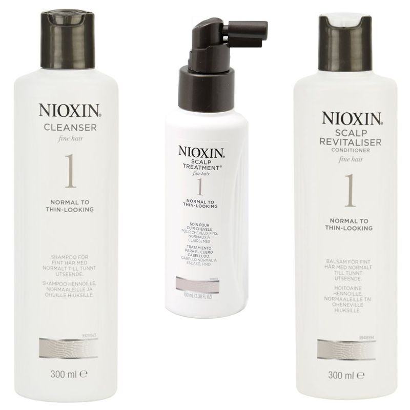 Nioxin - Pachet Medium System 1 pentru par fin, normal cu tendinta de rarefiere imagine produs