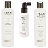 Nioxin - Pachet Medium System 1 pentru par fin, normal cu tendinta de rarefiere
