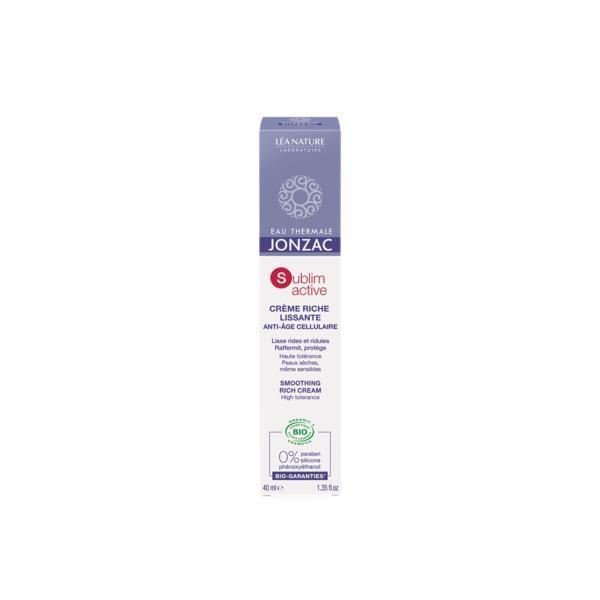 Crema antirid bio pentru ten normal-uscat Sublimactiv Jonzac, 40ml