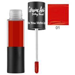 Ruj Lichid Mat Rezistent la Transfer Alfar Catherine Arley Eyes On You, nuanta 01 Venetian Red, 6ml