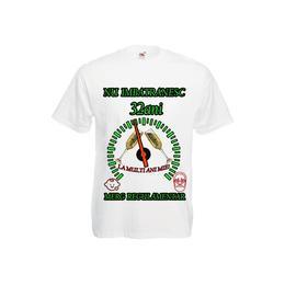 Tricou personalizat Fruit of the loom barbat nu imbatranesc 32 ani alb S