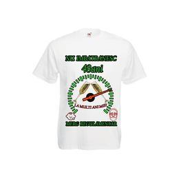 Tricou personalizat Fruit of the loom barbat nu imbatranesc 48 ani alb XXL