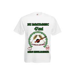 Tricou personalizat Fruit of the loom barbat nu imbatranesc 47 ani alb XXL