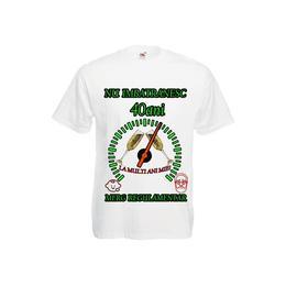 Tricou personalizat Fruit of the loom barbat nu imbatranesc 40 ani alb L