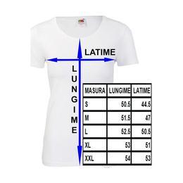 Tricou personalizat Fruit of the loom dama Asa arata o Iubita superba XXL rosu