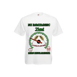 Tricou personalizat Fruit of the loom barbat nu imbatranesc 23 ani alb M