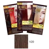 Sampon Nuantator cu Keratina Camco Victoria Beauty Keratin Therapy, nuanta V20 Chocolate, 40ml