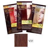 Sampon Nuantator cu Keratina Camco Victoria Beauty Keratin Therapy, nuanta V31 Chestnut, 40ml