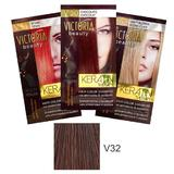 Sampon Nuantator cu Keratina Camco Victoria Beauty Keratin Therapy, nuanta V32 Velvet Brown, 40ml