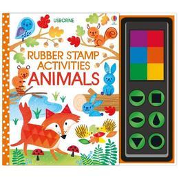 Carte de pictat cu stampile Rubber Stamp activities Animals