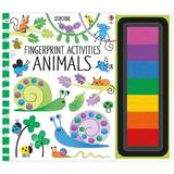 Carte de pictat cu degetelele Fingerprint activities: Animals Usborne