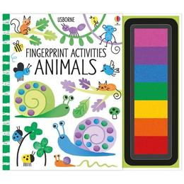 Carte de pictat cu degetelele Fingerprint activities: Animals Usborne