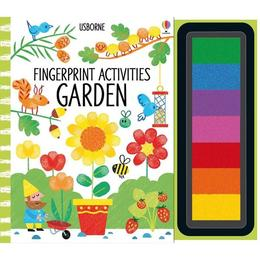 Carte de pictat cu degetelelele Fingerprint activities: Garden Usborne