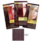 Sampon Nuantator cu Keratina Camco Victoria Beauty Keratin Therapy, nuanta V41 Wild Plum, 40ml