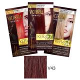 Sampon Nuantator cu Keratina Camco Victoria Beauty Keratin Therapy, nuanta V43 Burgundy, 40ml