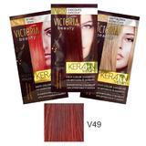 Sampon Nuantator cu Keratina Camco Victoria Beauty Keratin Therapy, nuanta V49 Ruby, 40ml
