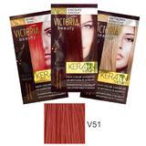 Sampon Nuantator cu Keratina Camco Victoria Beauty Keratin Therapy, nuanta V51 Titian, 40ml