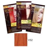Sampon Nuantator cu Keratina Camco Victoria Beauty Keratin Therapy, nuanta V52 Copper, 40ml