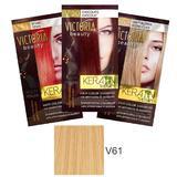 Sampon Nuantator cu Keratina Camco Victoria Beauty Keratin Therapy, nuanta V61 Blonde, 40ml
