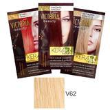 Sampon Nuantator cu Keratina Camco Victoria Beauty Keratin Therapy, nuanta V62 Light Blonde, 40ml