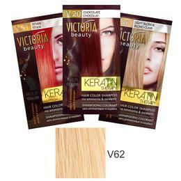 Sampon Nuantator cu Keratina Camco Victoria Beauty Keratin Therapy, nuanta V62 Light Blonde, 40ml de la esteto.ro