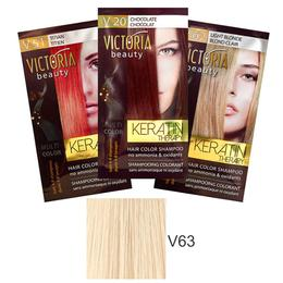 Sampon Nuantator cu Keratina Camco Victoria Beauty Keratin Therapy, nuanta V63 Platinum Blonde, 40ml