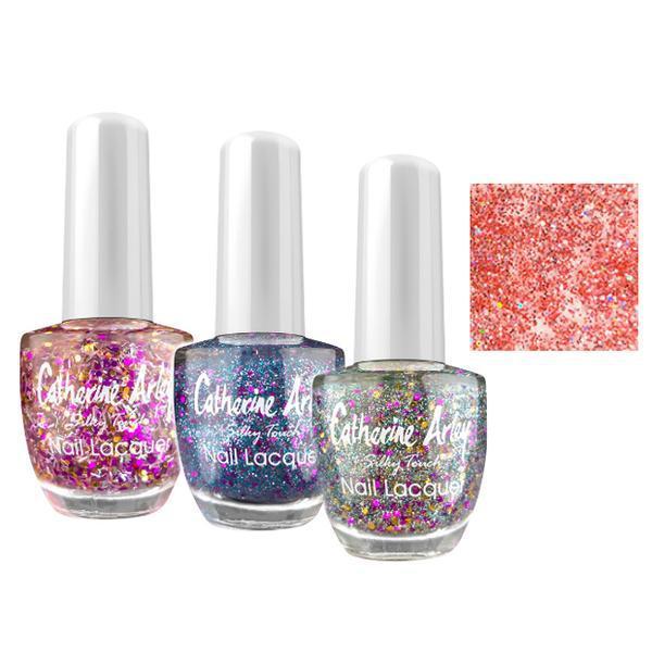 Lac de Unghii Alfar Catherine Arley Silky Touch Glitter, nuanta 760 Sweet Pink, 14ml poza