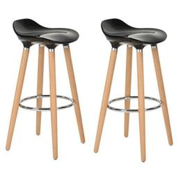 Set 2 scaune bar Jasmine negru - Unic Spot Ro