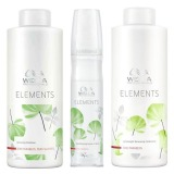 Pachet  2 Wella Elements Renewing - Sampon, Balsam  si Spray Leave - In
