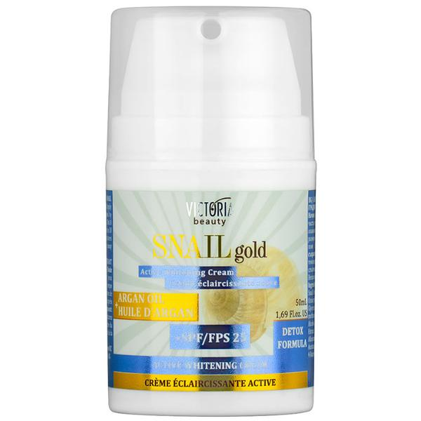 Crema cu Efect de Albire cu SPF25, Extract de Melc si Ulei de Argan Camco Snail Gold, 50ml