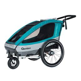 Remorcă de bicicletă Qeridoo Sportrex1, 2018, aquamarin