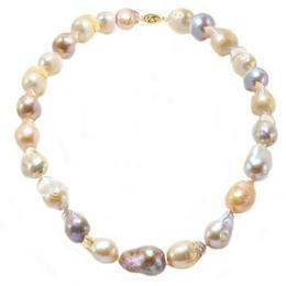 Colier Baroque Perle Naturale Edison cu Inchizatoare Filigranata din Aur